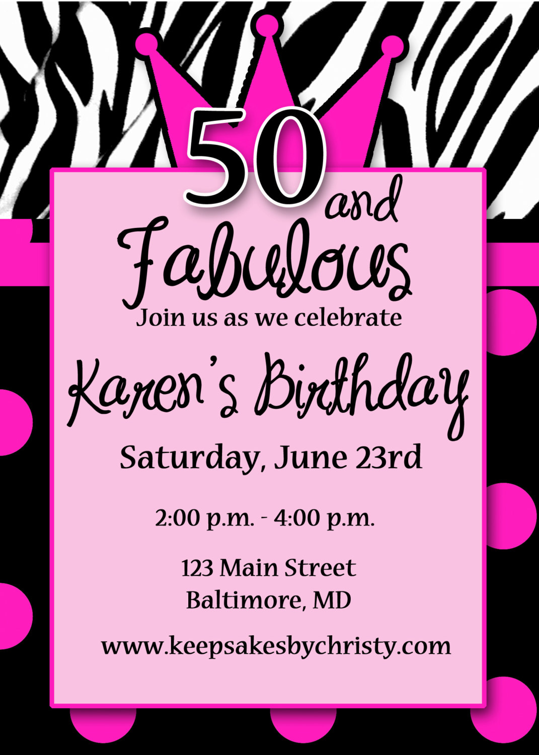invitation card design for 50th birthday party ; endearing_invitation_40th_birthday_party_men_30th_birthday_4