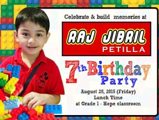 invitation card design for 7th birthday boy ; 2