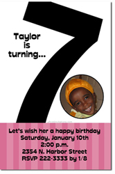 invitation card design for 7th birthday boy ; age%25207a
