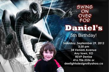 invitation card design for 7th birthday boy ; birthday_invites~~element105