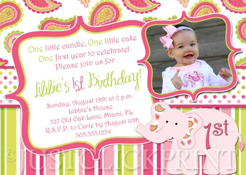 Invitation Quotes For 1st Birthday Party First Wording