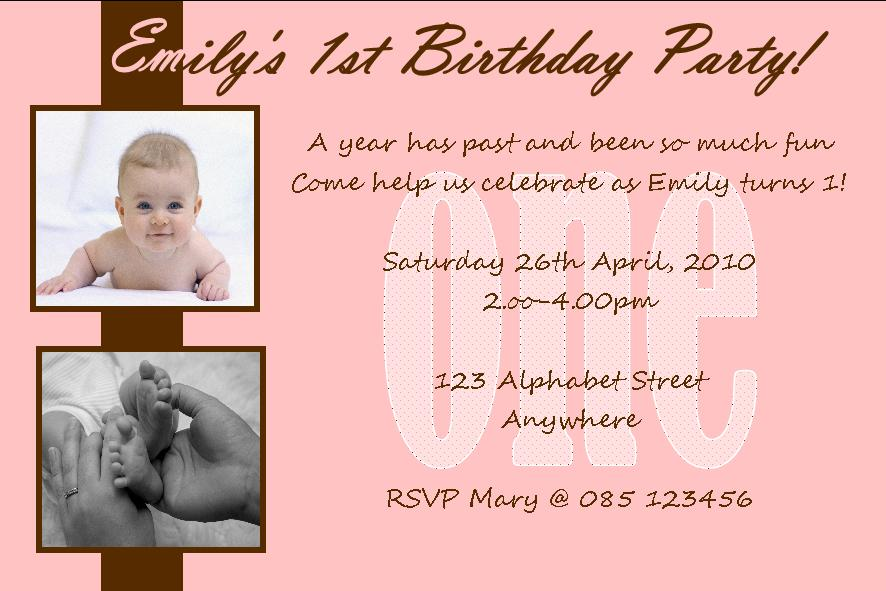 invitation quotes for first birthday party ; personalised-birthday-photo-invitations-girl-design-3-59-p
