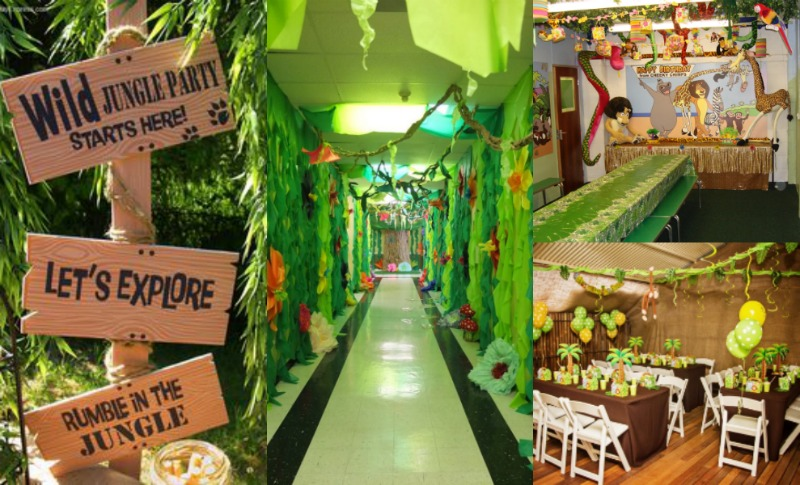 jungle theme birthday banner ; Jungle-Book-themed-party