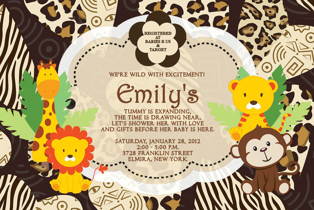 jungle theme birthday card ; free_printable_king_of_the_jungle_baby_shower_invitations_1