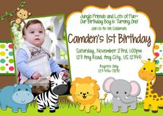 jungle theme birthday invitation card ; jungle-1st-birthday-invitations-with-Birthday-invitations-ideas-for-your-cards-inspiration-14