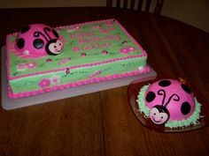 ladybug 1st birthday sheet cake ; eab437254ed792df4ea74dc606eb58b1--cakes-for-birthday-happy-birthday