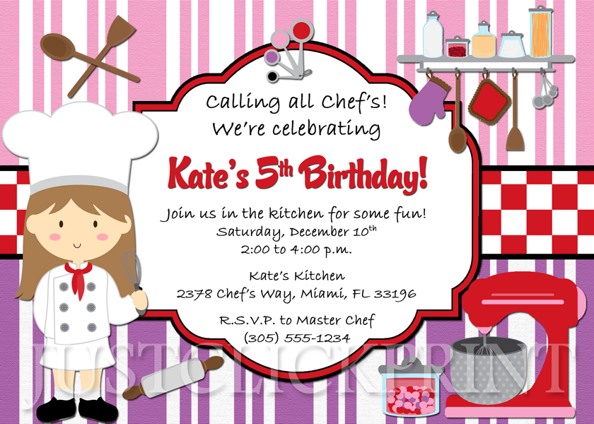 little girl birthday invitations printable ; CookingBirthdayParty3_original