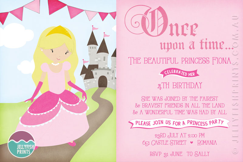 little girl birthday invitations printable ; bk252-princess-birthday-party-invitation-2