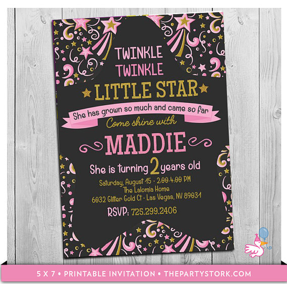 little girl birthday invitations printable ; il_570xN