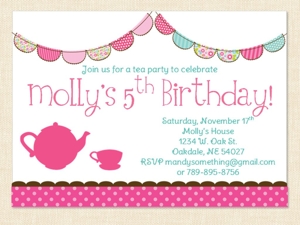 little girl birthday invitations printable ; printable_tea_party_invitations_for_little_girls