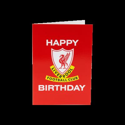 liverpool fc signed birthday card ; A4094