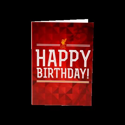 liverpool fc signed birthday card ; A4100
