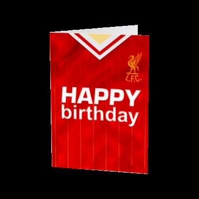 liverpool fc signed birthday card ; A4105