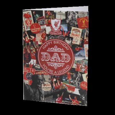 liverpool fc signed birthday card ; A4673