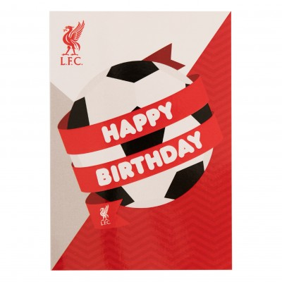 liverpool fc signed birthday card ; A6909