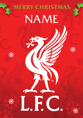 liverpool fc signed birthday card ; Card_FCLiverpool_Xmas12_PXLP02_P