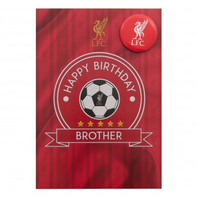 liverpool fc signed birthday card ; a9479