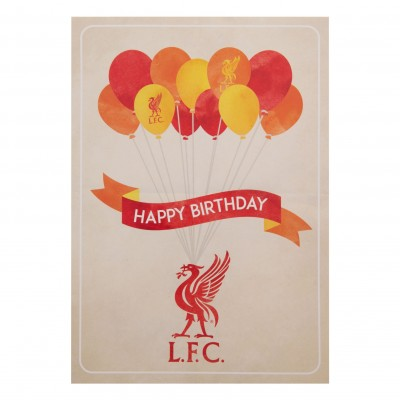 liverpool fc signed birthday card ; a9480