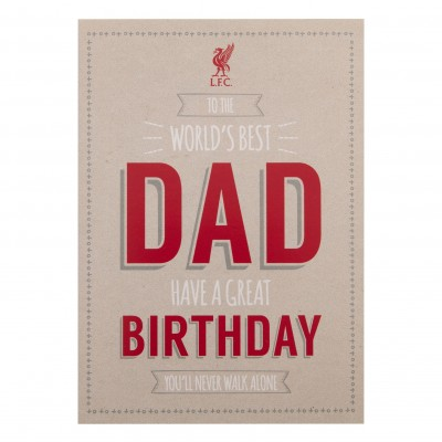 liverpool fc signed birthday card ; a9482