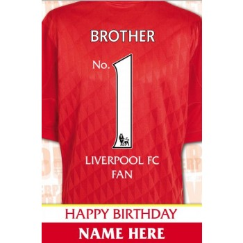 liverpool fc signed birthday card ; liverpool_fc_no_1_fan