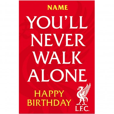 liverpool fc signed birthday card ; liverpool_never_walk_alone_card