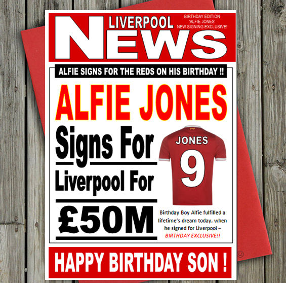 liverpool fc signed birthday card ; s-l1000