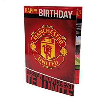 manchester united signed birthday card ; 51iFFWBj4mL