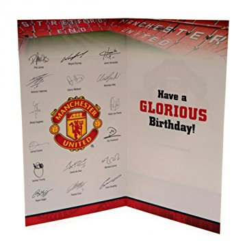 manchester united signed birthday card ; 614YbS4fP9L