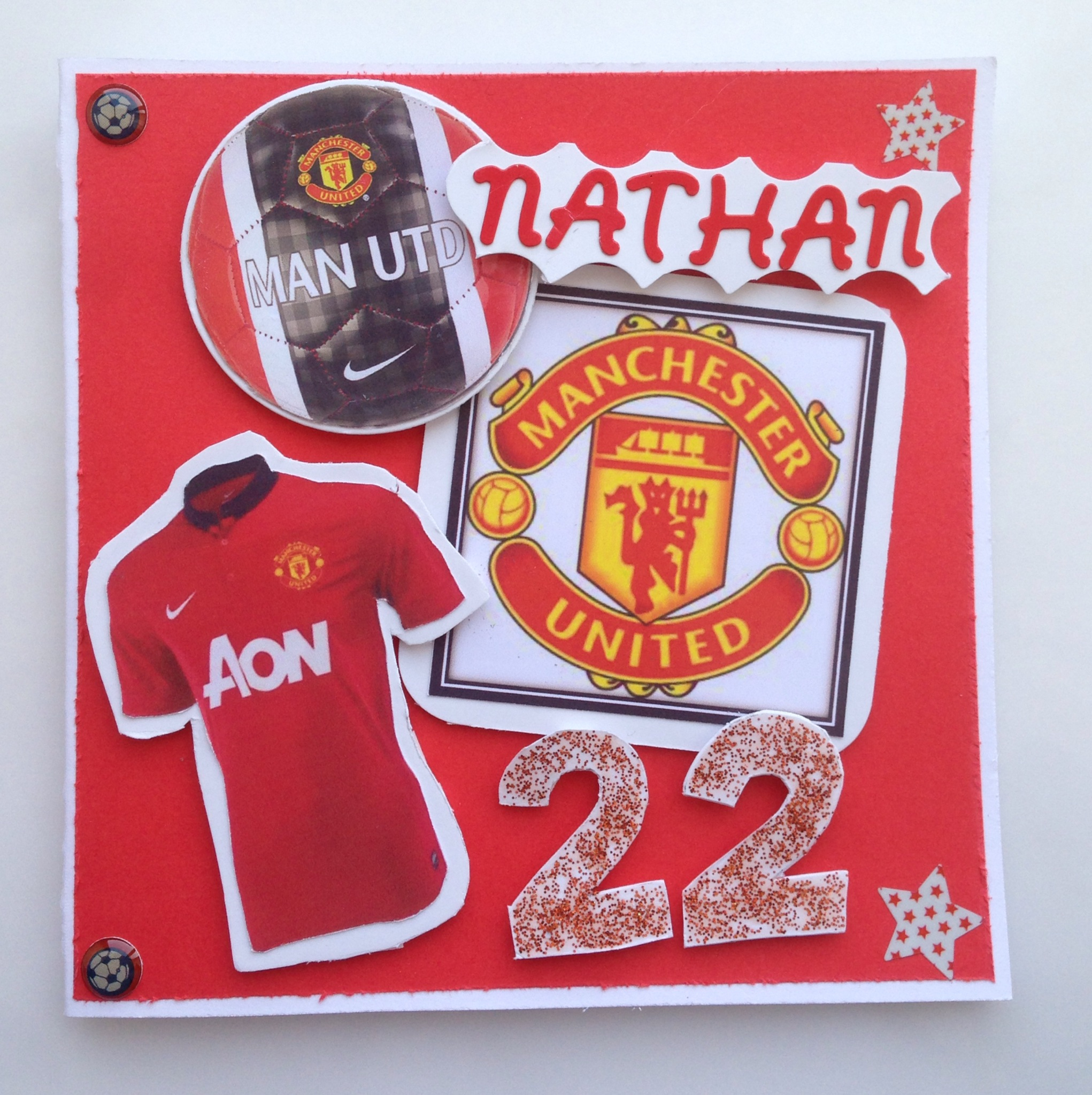 manchester united signed birthday card ; 95fd79c1cd827a53321b11a1a9751193