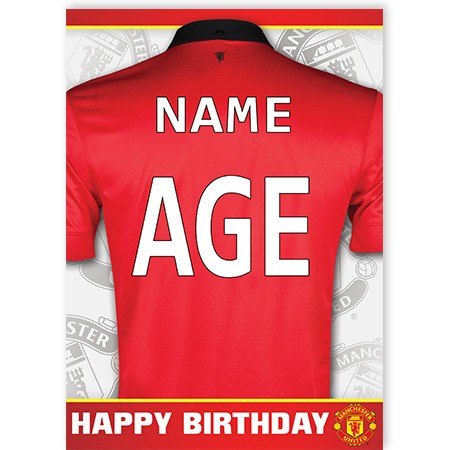 manchester united signed birthday card ; a5_dan_manu0030_edthumb
