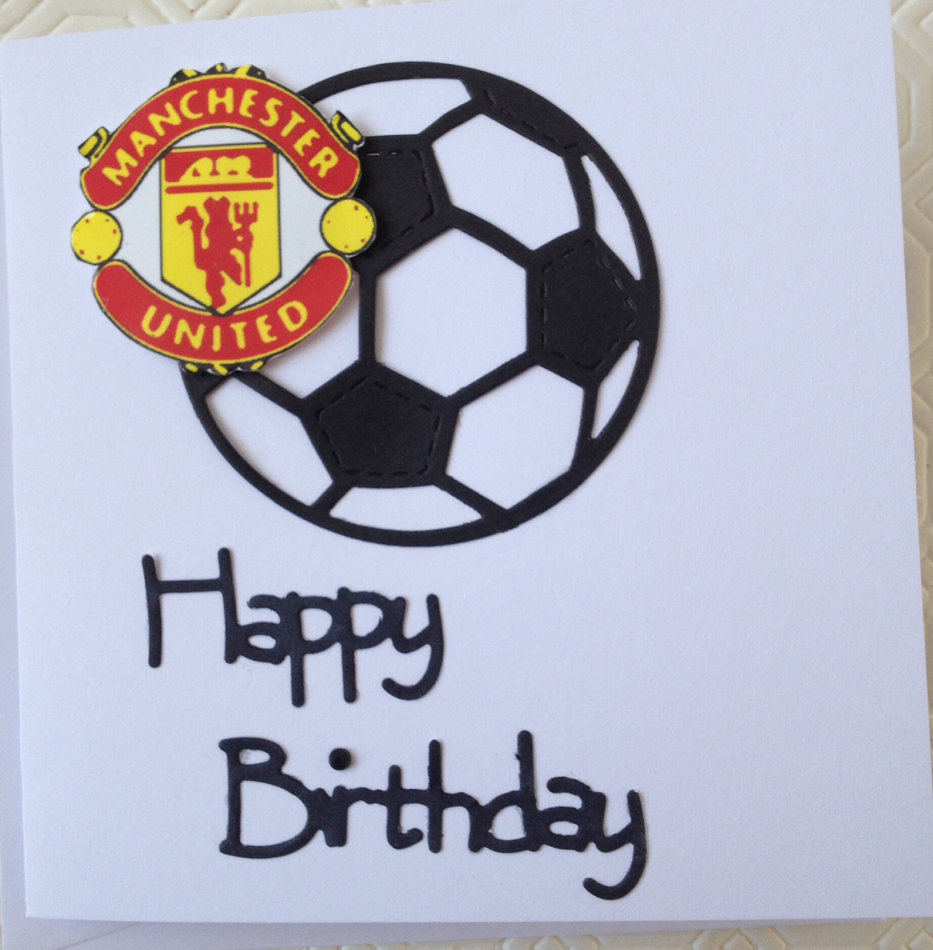 manchester united signed birthday card ; fc47b4a313aa0a96361d3d136f7b2932