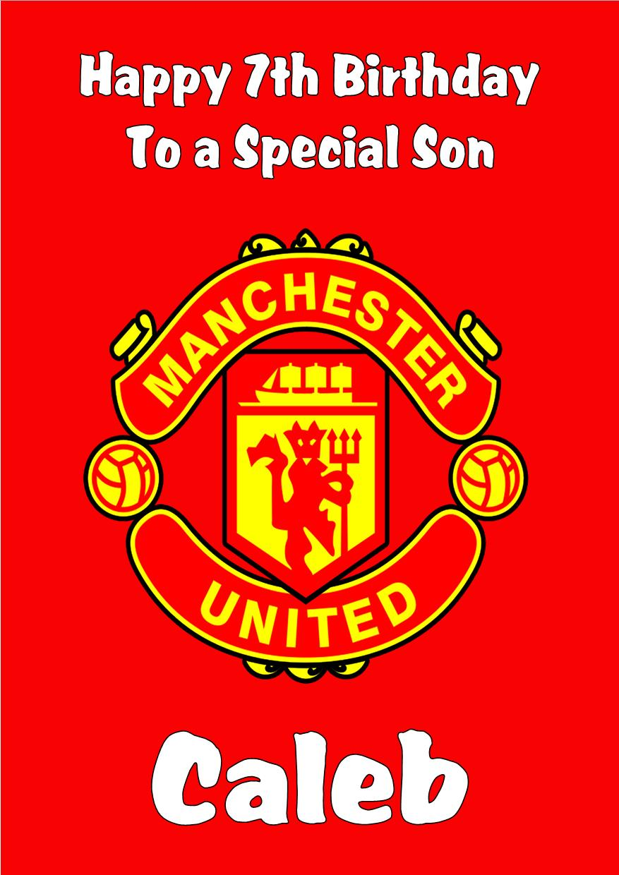 manchester united signed birthday card ; personalised-manchester-united-birthday-card-2463-p