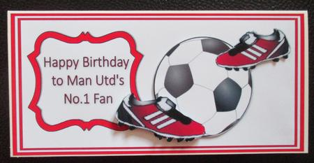 manchester united signed birthday card ; photo820683