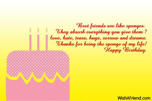 message of thanks to friends for birthday wishes ; 1203-best-friend-birthday-wishes