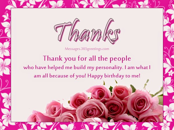 message to say thank you for birthday wishes ; 441d6f84531255e7f4640661303e6d3a