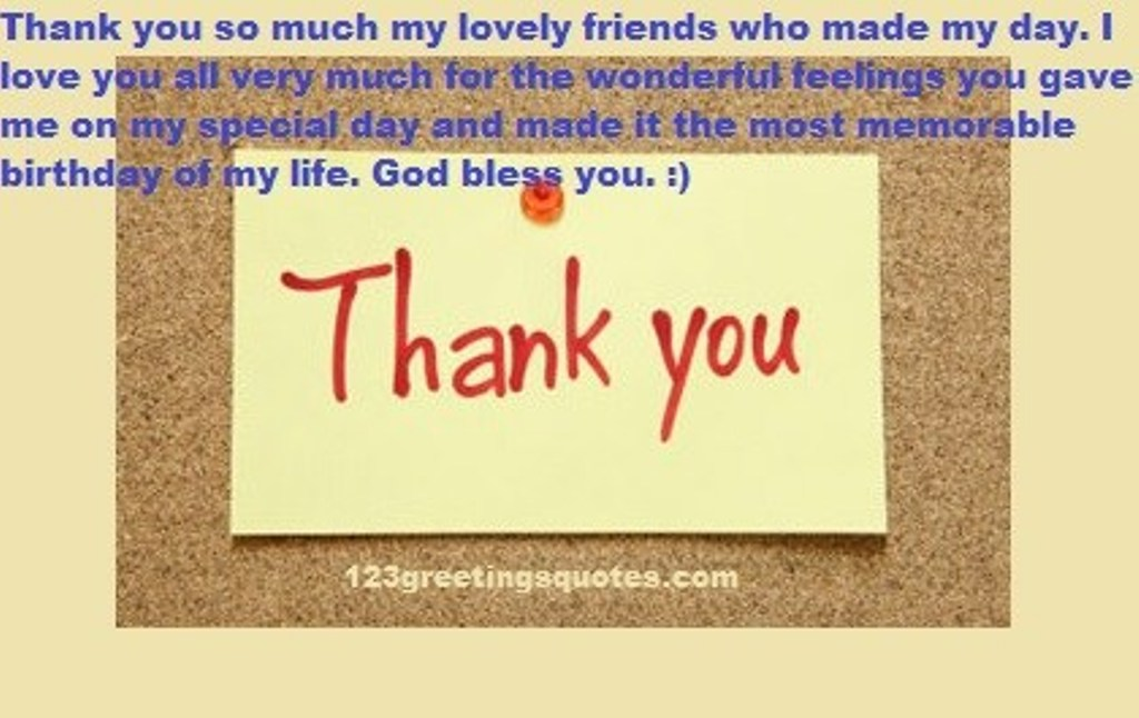 message to thank friends for birthday wishes ; Thank-You-So-Much-My-Lovely-Friends-ty224