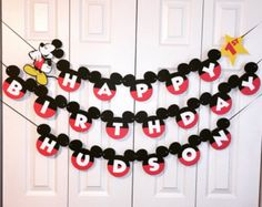 mickey mouse birthday banner with photo ; 03c537a410ba9e97c87ee63903084cb4--mickey-head-layered-look