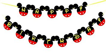 mickey mouse birthday banner with photo ; 412gXBsQJ3L