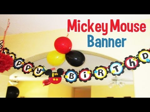 mickey mouse birthday banner with photo ; hqdefault
