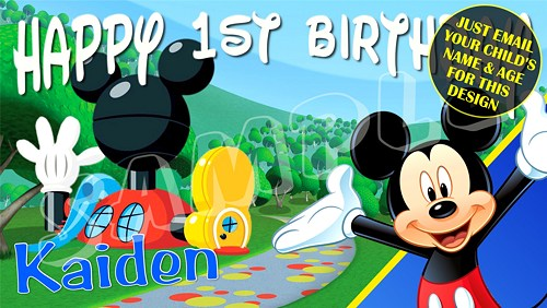mickey mouse birthday banner with photo ; mickey_mouse_club_house_personalized_birthday_banner_60ea3d58_731845