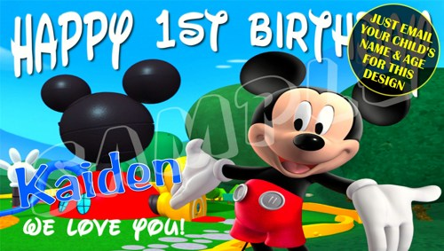 mickey mouse birthday banner with photo ; mickey_mouse_club_house_personalized_birthday_banner_8a49f4aa