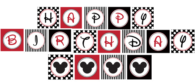 mickey mouse birthday banner with photo ; mickeybanner