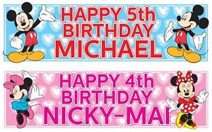 mickey mouse birthday banner with photo ; s-l300