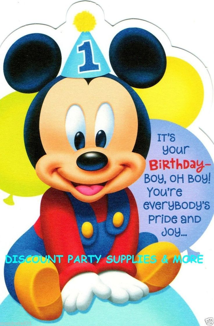 mickey mouse birthday card quotes ; fb9f5f4c1c75416c35a626461cc05884--mickey-mouse-st-birthday-baby-mickey-mouse