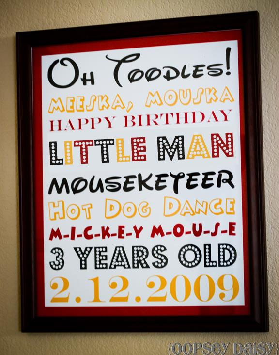 mickey mouse birthday card quotes ; mickey-party_subway-art