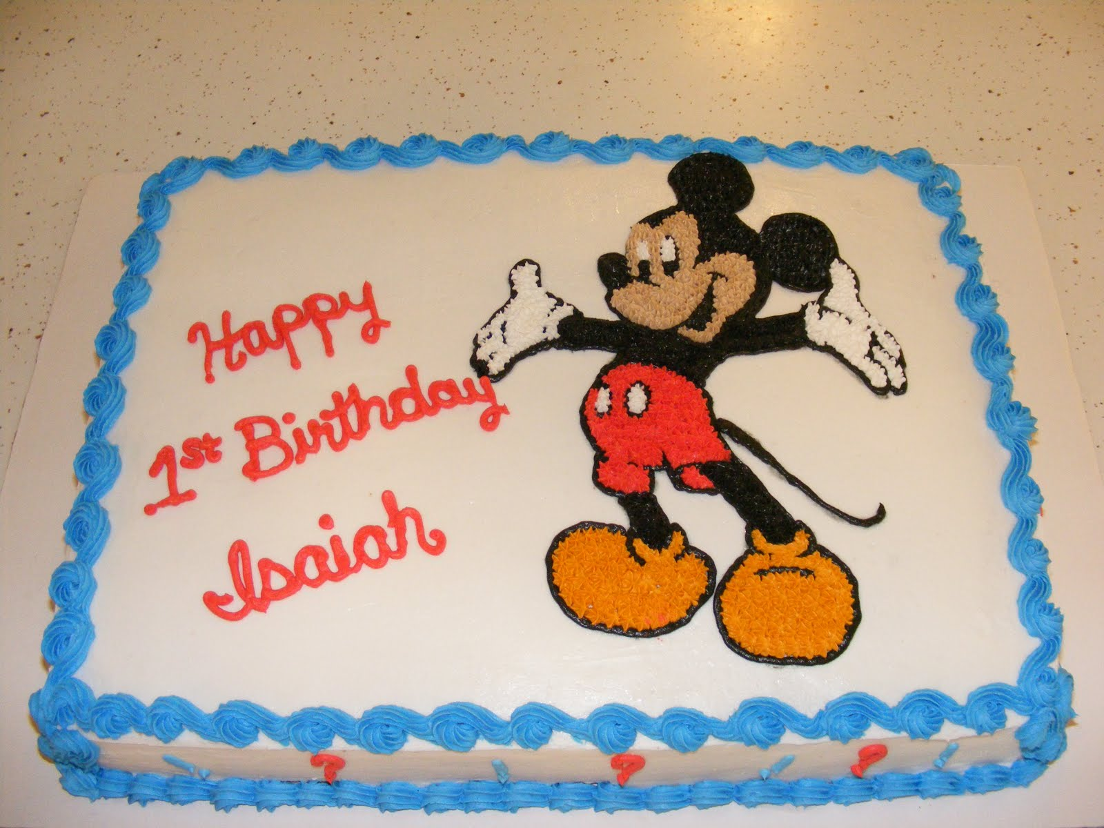 mickey mouse birthday sheet cake ; 2010_0403Feb20100001