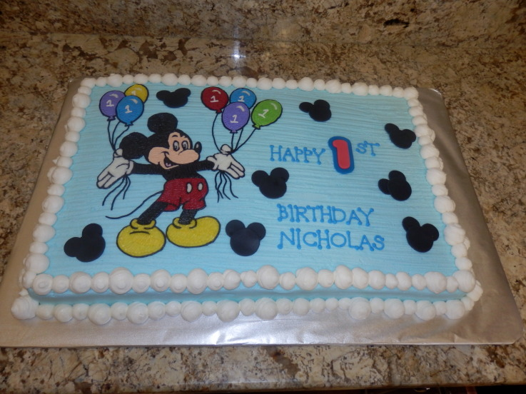 mickey mouse birthday sheet cake ; 7c85efa70c0896a2b713531d0d940c85