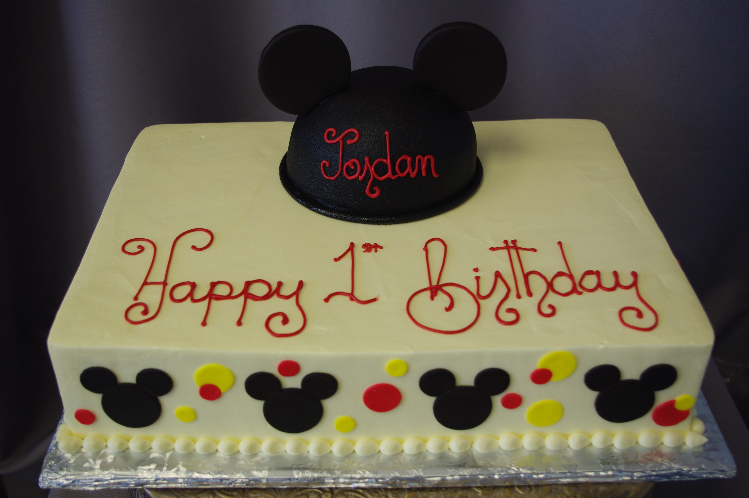 mickey mouse birthday sheet cake ; IMGP9601