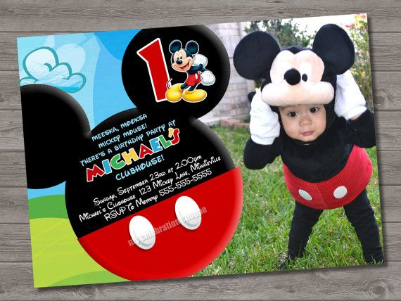 mickey mouse themed birthday party invitation ; 31e0a640e48d998a7e3a1c2f465c5979--mickey-mouse-invitation-mickey-clubhouse