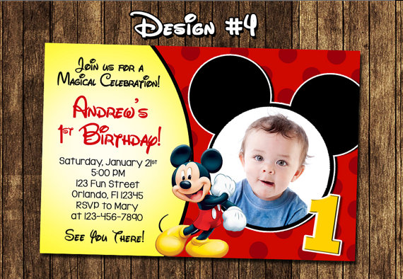 mickey mouse themed birthday party invitation ; 968d5eb6ccf7e3c67d71d358247f84bf